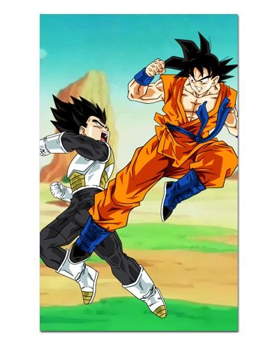 Ímã Decorativo Goku vs Vegeta - Dragon Ball - IDBZ11