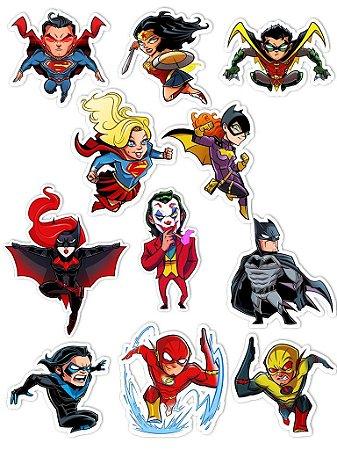 Ímãs Decorativos DC Comics Set A - 11 unid