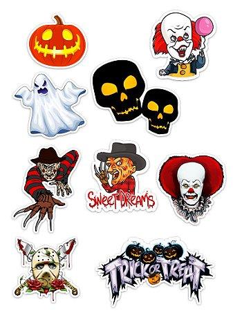 Ímãs Decorativos Halloween Set B - 9 unid