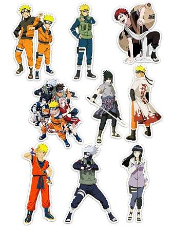 Ímãs Decorativos Naruto Set C - 9 unid