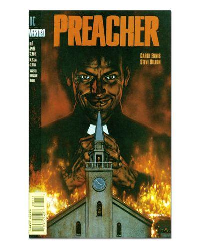 Ímã Decorativo Capa de Quadrinhos Preacher - CQO31
