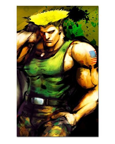 Ímã Decorativo Guile - Street Fighter - ISF19