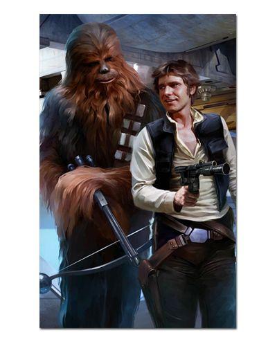 Ímã Decorativo Han Solo e Chewbacca - Star Wars - ISW28