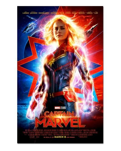 Ímã Decorativo Pôster Capitã Marvel - IPF583