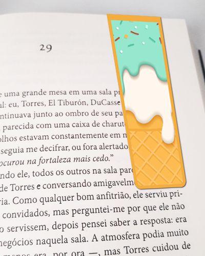 Marcador De Página Magnético Ice Cream - Cute - MFE03
