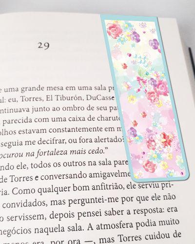 Marcador De Página Magnético Flores - Cute - MFE79