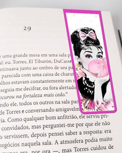 Marcador De Página Magnético Audrey Hepburn - MFE61