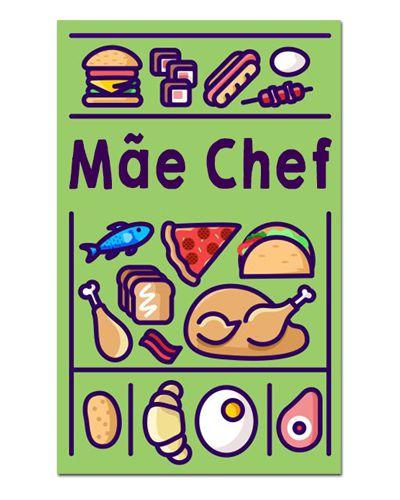 Ímã Decorativo Mãe Chef - Cute - IDF10