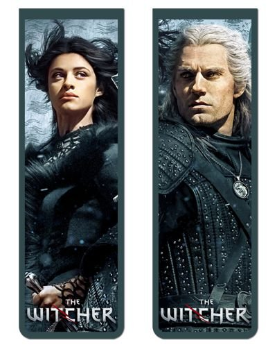 Pack Marcador Magnético - Geralt e Yennefer - The Witcher - PKN17