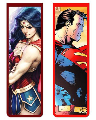 Pack Marcador Magnético - Superman e Mulher-Maravilha - PKN22