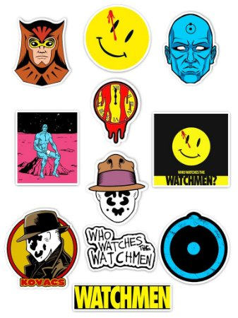 Ímãs Decorativos Watchmen Set A - 11 unid