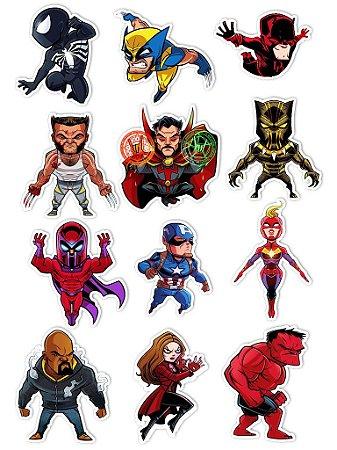 Ímãs Decorativos Marvel Comics Set C - 12 unid