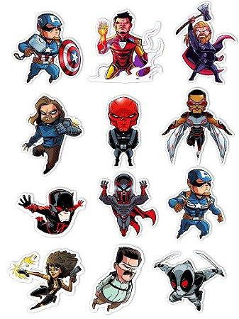 Ímãs Decorativos Marvel Comics Set D - 12 unid