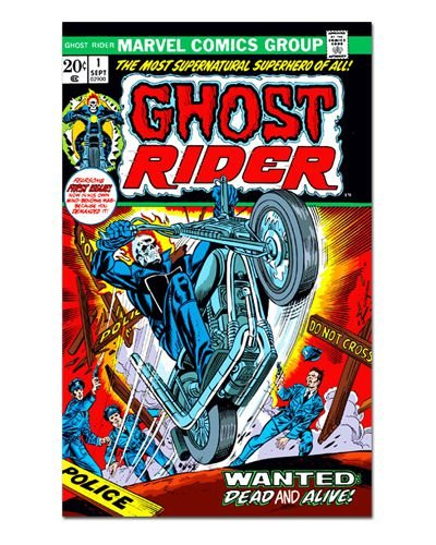 Ímã Decorativo Capa de Quadrinhos Ghost Rider - CQM224