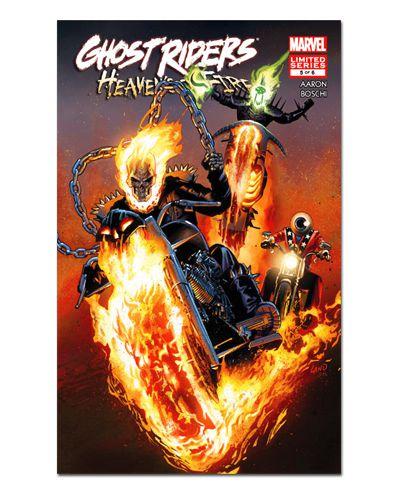 Ímã Decorativo Capa de Quadrinhos Ghost Rider - CQM229