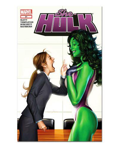 Ímã Decorativo Capa de Quadrinhos She-Hulk - CQM239