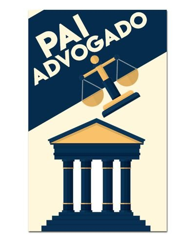Ímã Decorativo Pai Advogado - Cute - IDF29