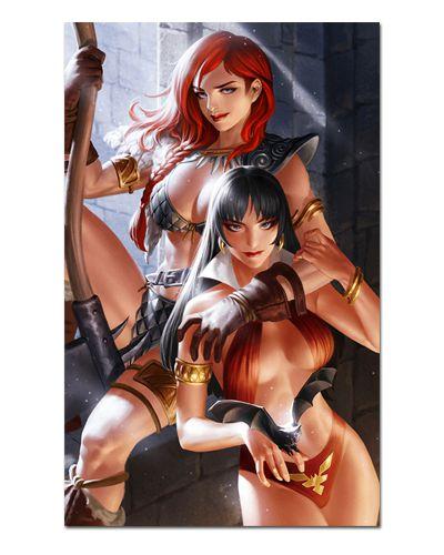 Ímã Decorativo Vampirella e Red Sonja - ITE07