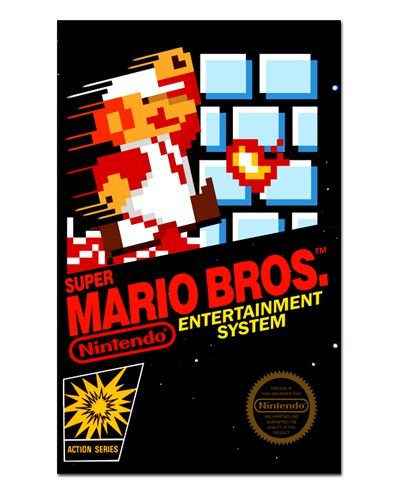 Ímã Decorativo Capa de Game - Super Mario Bros - ICG24