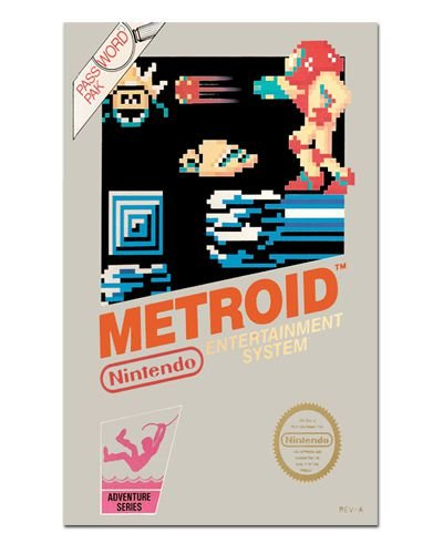 Ímã Decorativo Capa de Game - Metroid - ICG25