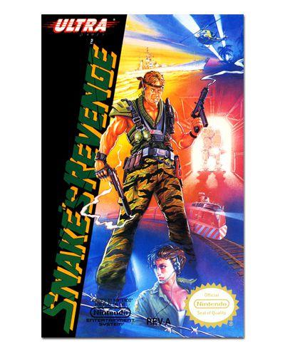 Ímã Decorativo Capa de Game - Metal Gear Snake's Revenge - ICG42