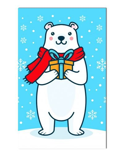 Ímã Decorativo Urso Polar - Pet Zoo - INT03