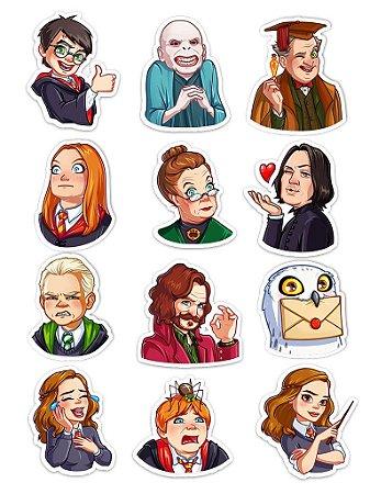 Ímãs Decorativos Harry Potter Set C - 12 unid