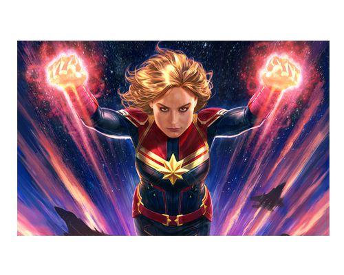 Ímã Decorativo Capitã Marvel - Marvel Comics - IQM96