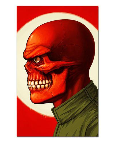 Ímã Decorativo Red Skull - Marvel Comics - IQM145