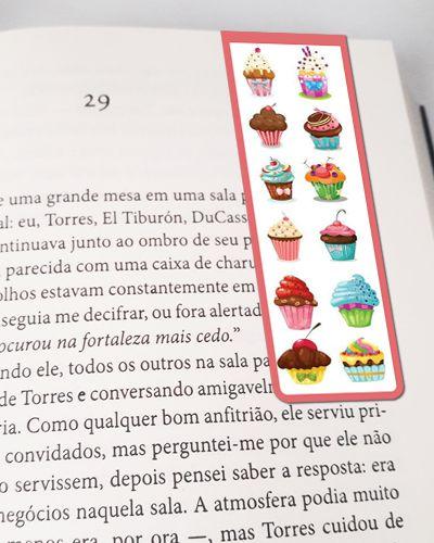 Marcador De Página Magnético Cupcake - Gourmet - MFE125