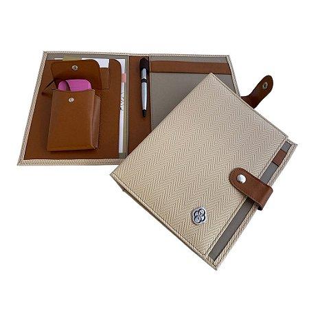 Porta Receituário e Carimbo Versalhes Marfim
