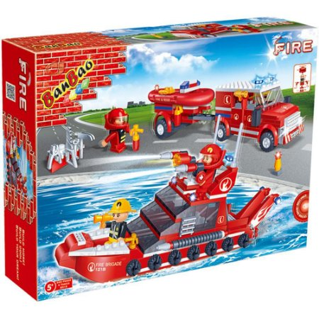 LEGO LANCHA E CARRO BOMBEIRO 392 PEÇAS