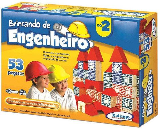 BRINCANDO DE ENGENHEIRO N2 53 PEÇAS
