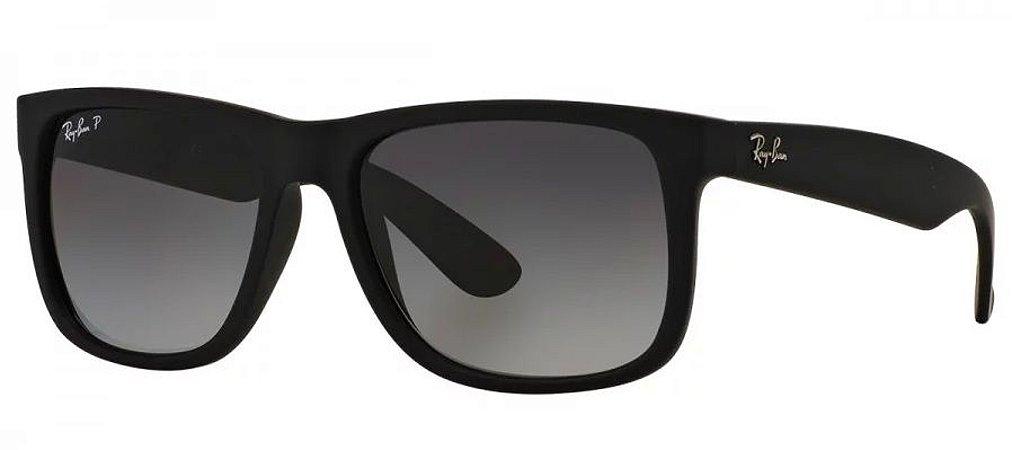0f9cc7515e6f9 Óculos De Sol Ray Ban Justin Rb4165l Preto Fosco Polarizado - New ...