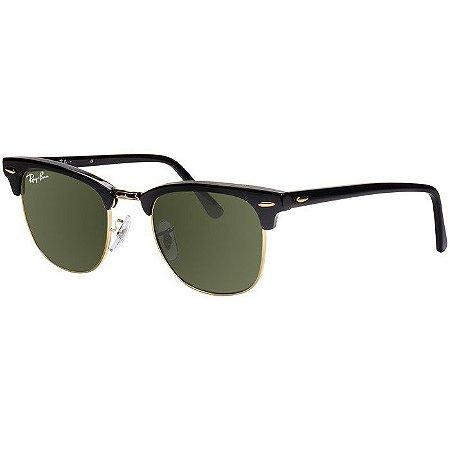 Óculos de Sol Ray Ban Clubmaster RB3016 Preto e Dourado - New Store ... c190af72c9