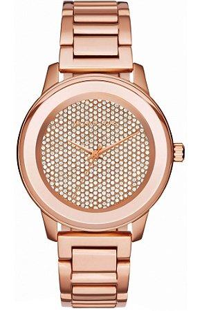 Relógio Michael Kors Mk6210 Kinley Pave Rose - New Store - A melhor ... 4406da7857