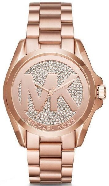 Relógio Michael kors Mk6437 Rose Gold Pave Cristais - New Store - A ... 181d39774f