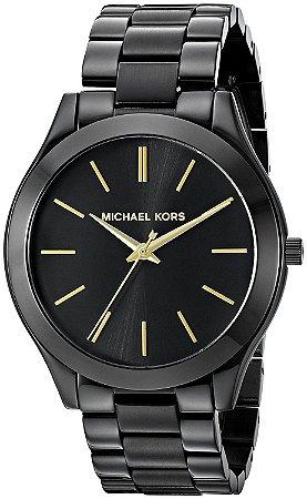 Relógio Michael Kors Mk3221 Preto Dourado - New Store - A melhor ... f603f0b6c2