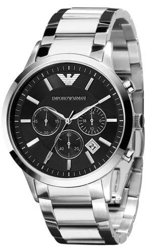 Relógio Emporio Armani AR2434 Dial Preto - New Store - A melhor loja ... 85f8bc67fe