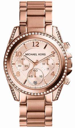 Relógio Michael Kors Mk5263 Rose Blair Glitz - New Store - A melhor ... 5015c82135