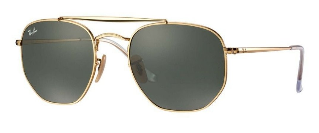 3c73411e9a941 Ray Ban Marshal Rb3648 001 54 - Gold Green Classic G-15 - New Store ...