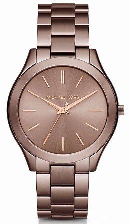 Relógio Michael Kors MK3478 Slim Runway Marrom - New Store - A ... b9a64c2897