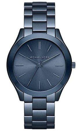 f0dbb51d3cd55 Relógio Michael Kors Slim MK3419 Slim Runway Azul - New Store - A ...