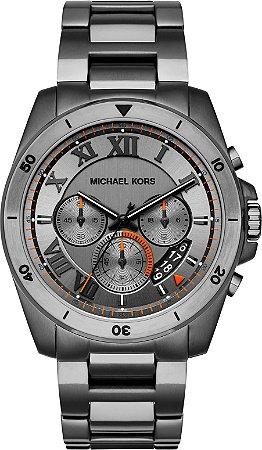 Relógio Michael Kors Masculino Brecken Mk8465 Chumbo - New Store - A ... aec5277183