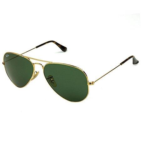 b1b7d2404dab0 Ray Ban Aviador Rb3025 Dourado Lente Verde - New Store - A melhor ...
