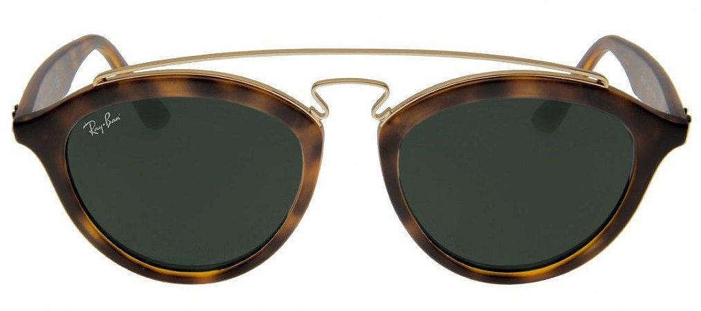 Óculos de Sol Ray Ban Gatsby II RB4257 - Tartaruga Lente Preta - New ... 6e5530e58c