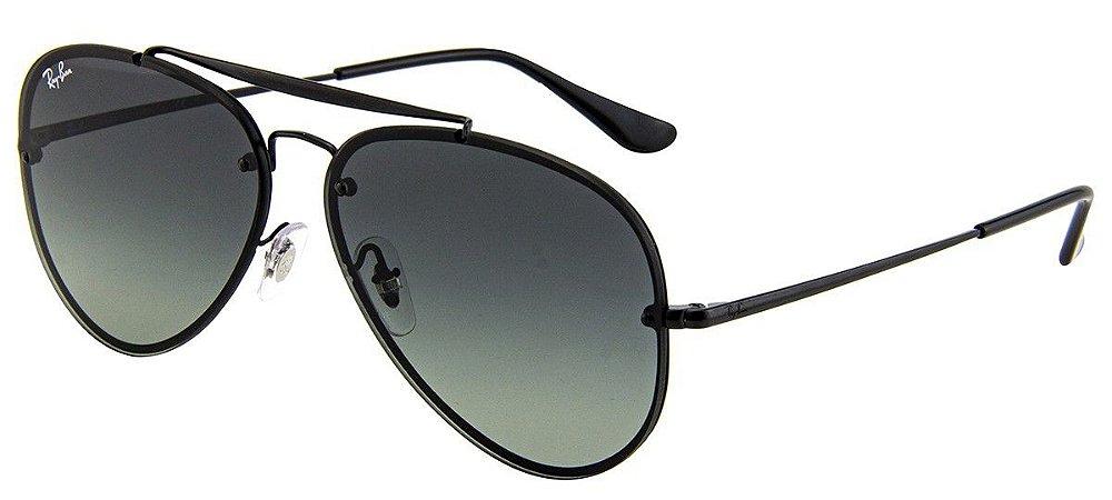 90e2336057bed Óculos De Sol Ray Ban RB3584-N 153 Blaze Aviador Preto Lente Preta ...