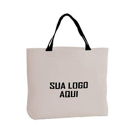 SACOLA DE ALGODÃO CRU COM FUNDO 45x35x6cm (LarguraxAlturaxFundo)