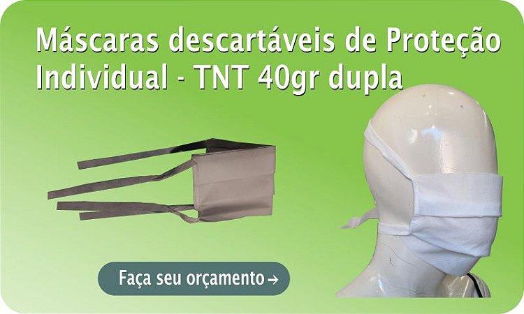Máscara descartável de TNT