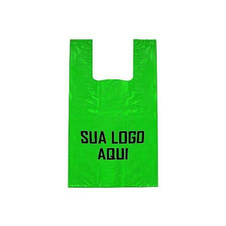 SACOLA DE PLÁSTICO ALÇA CAMISETA MÈDIA - 30x40x0,005 (AlturaxLarguraxDensidade)